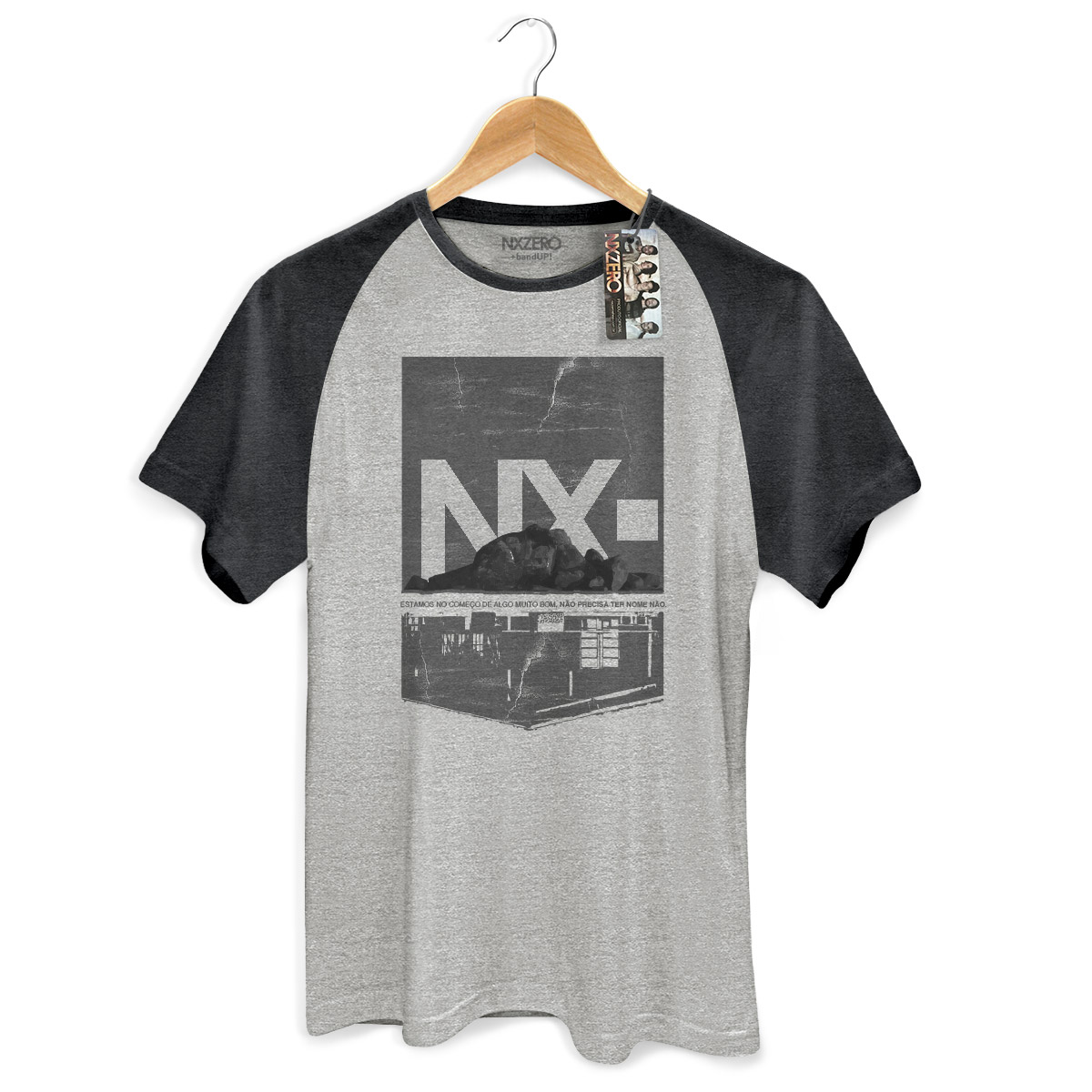 Camiseta Raglan Premium Masculina NXZero Sem Nome