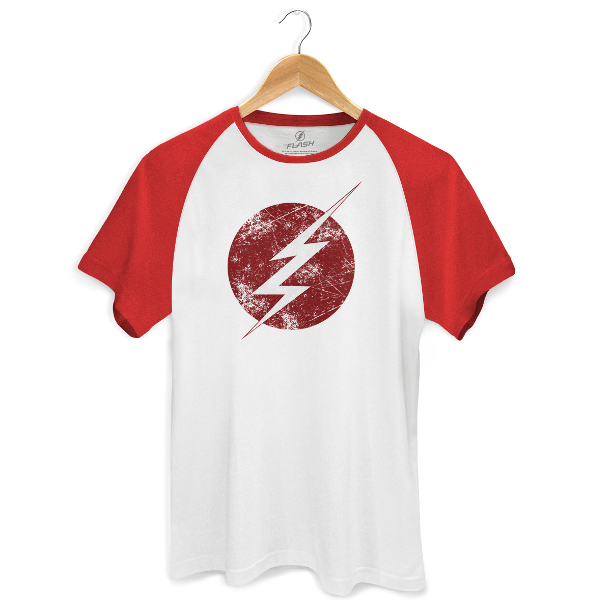Camiseta Raglan Premium Masculina The Flash Serie Tracing Logo