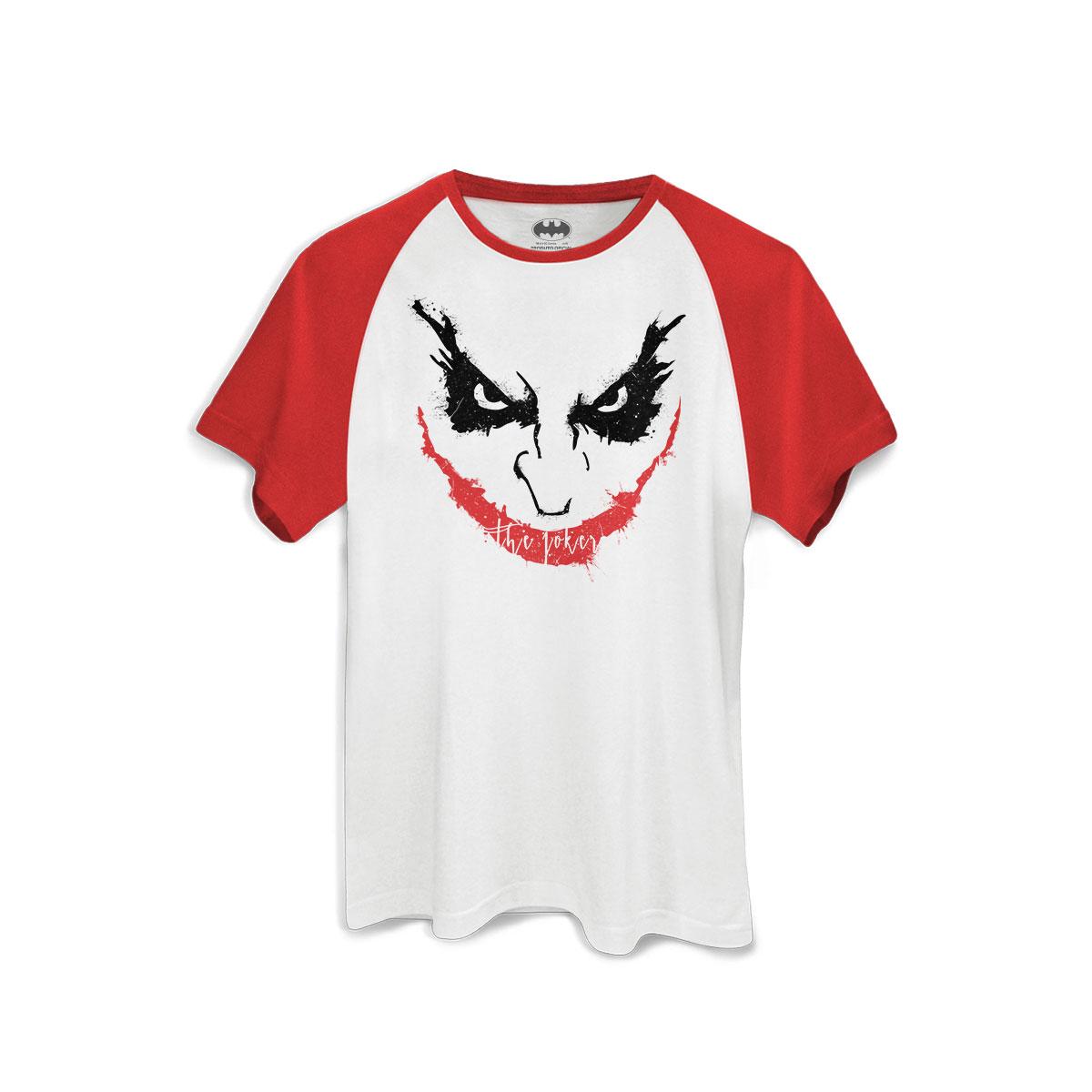 Camiseta Raglan Premium Masculina The Joker Psycho Smile