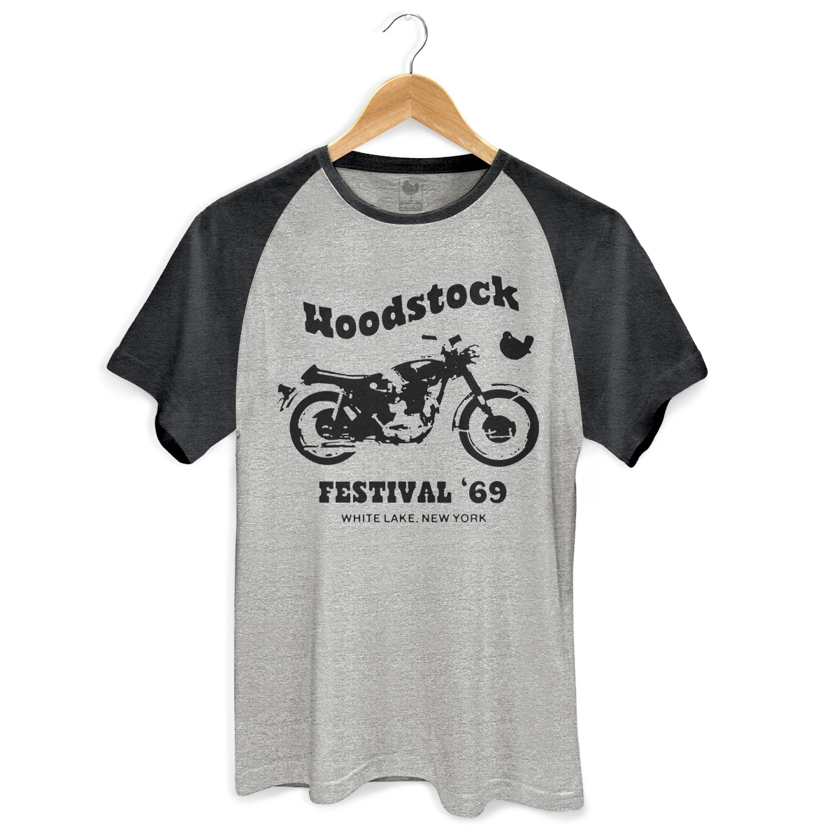 Camiseta Raglan Premium Masculina Woodstock Festival ´69
