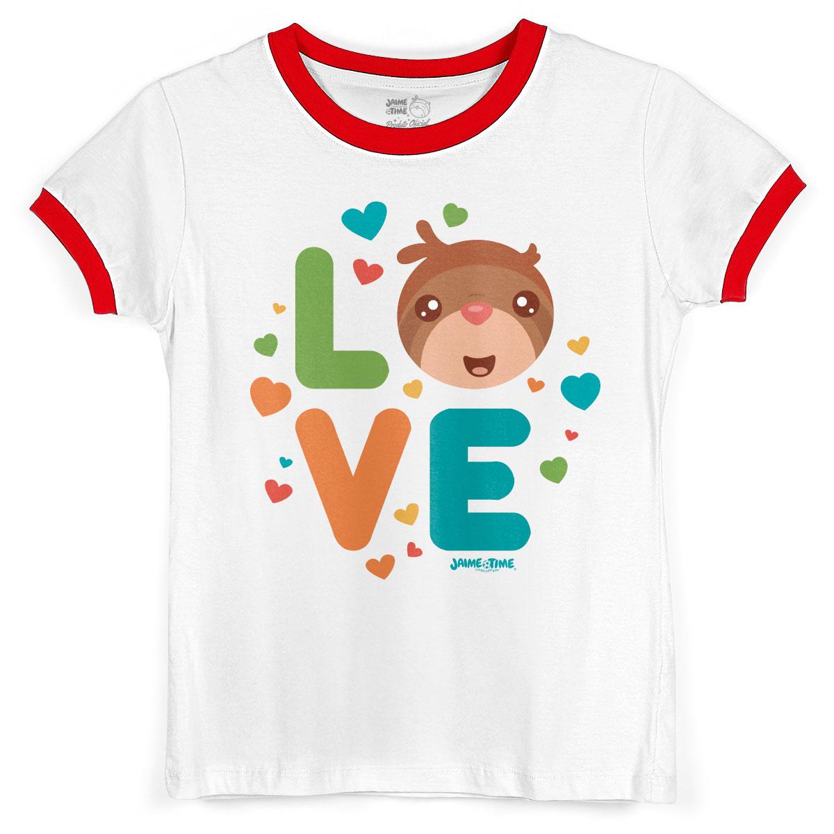 Camiseta Ringer Feminina Jaime Love