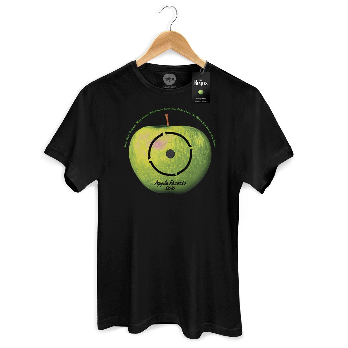 Camiseta Unissex The Beatles Apple LP Basic