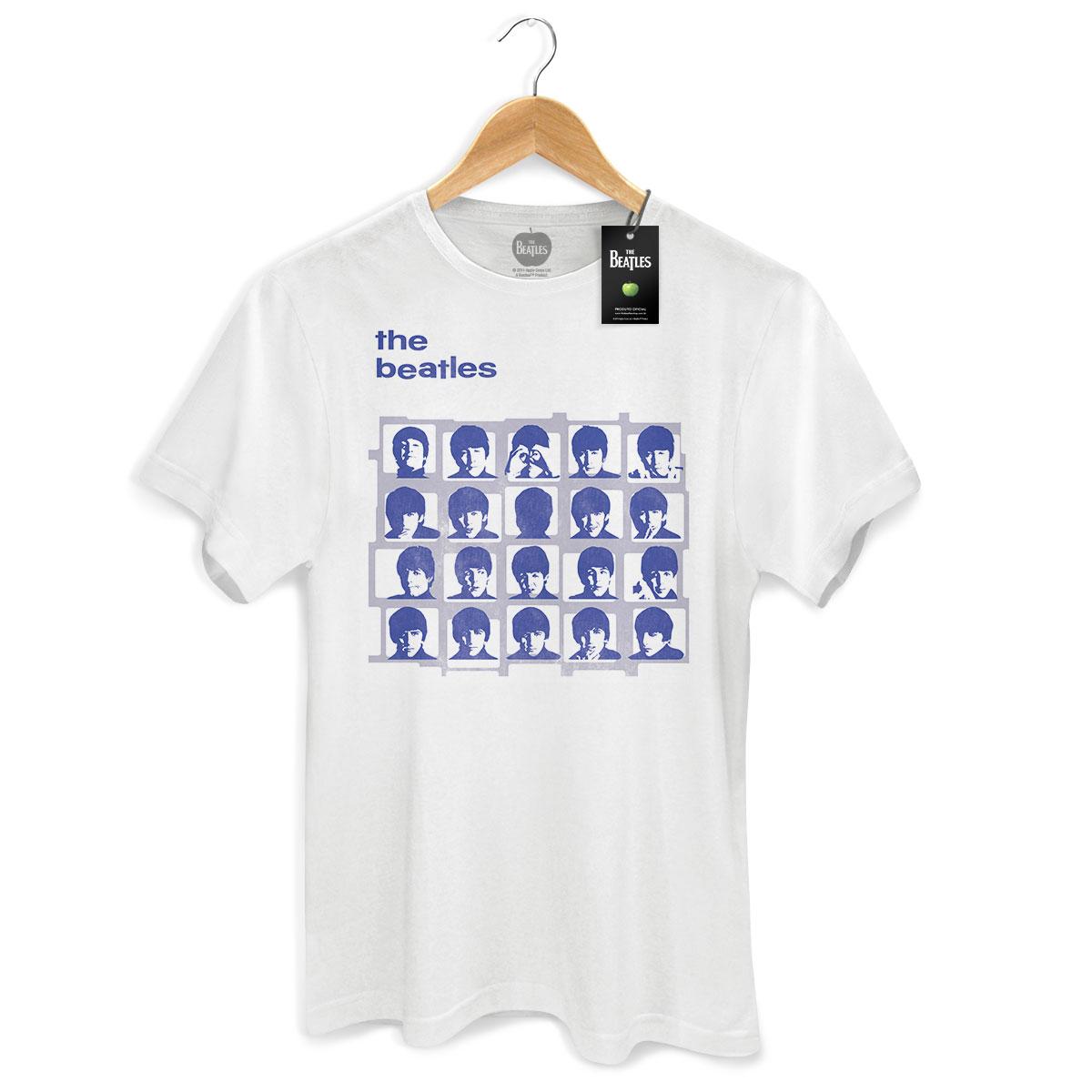 Camiseta Unissex The Beatles Hard Day�s Night Blue Basic