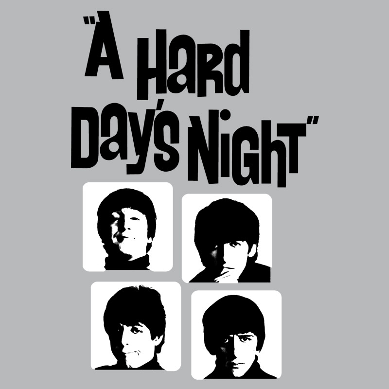 Camiseta Unissex The Beatles Hard Day�s Night Grey Basic