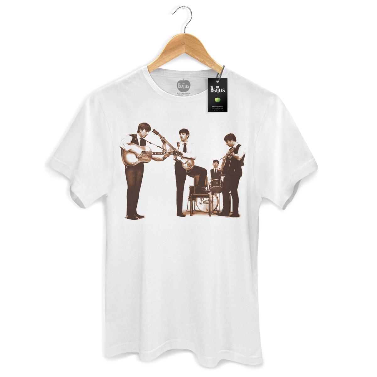 Camiseta Unissex The Beatles Picture Sepia