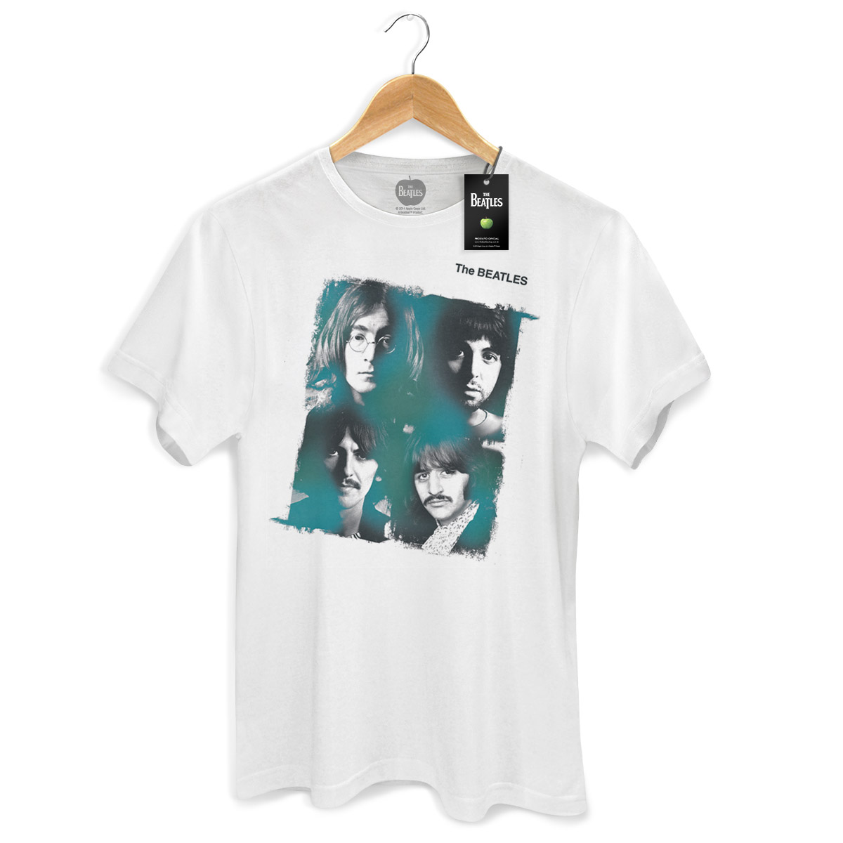 Camiseta Unissex The Beatles Portraits Basic