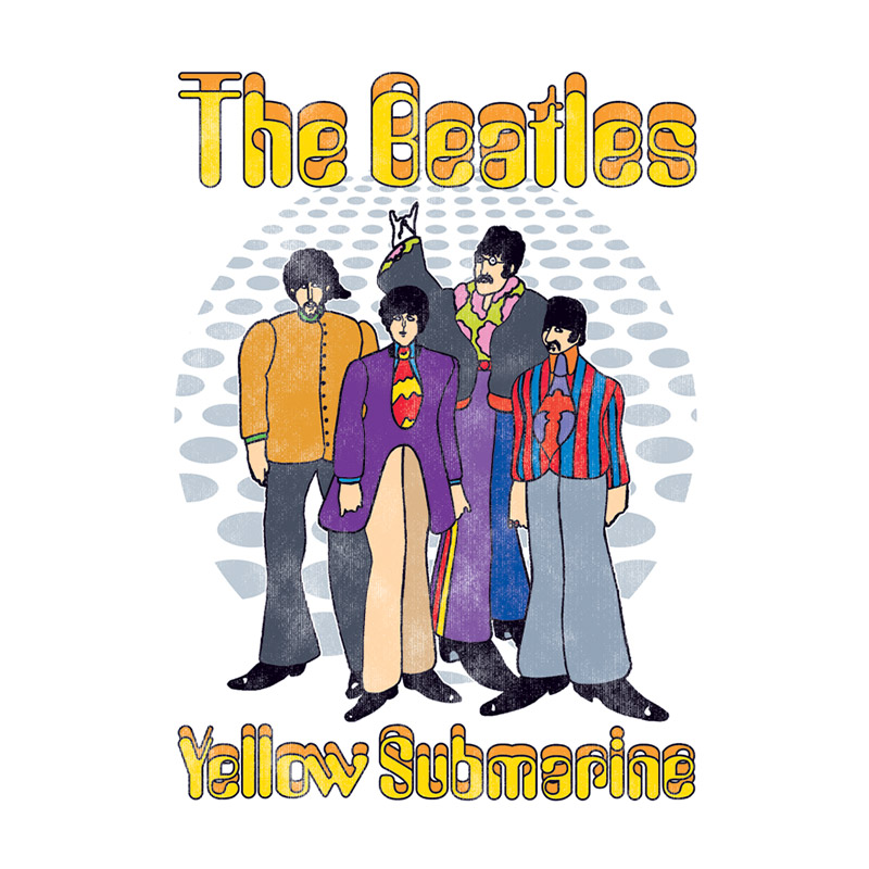 Camiseta Unissex The Beatles Yellow Submarine Classic
