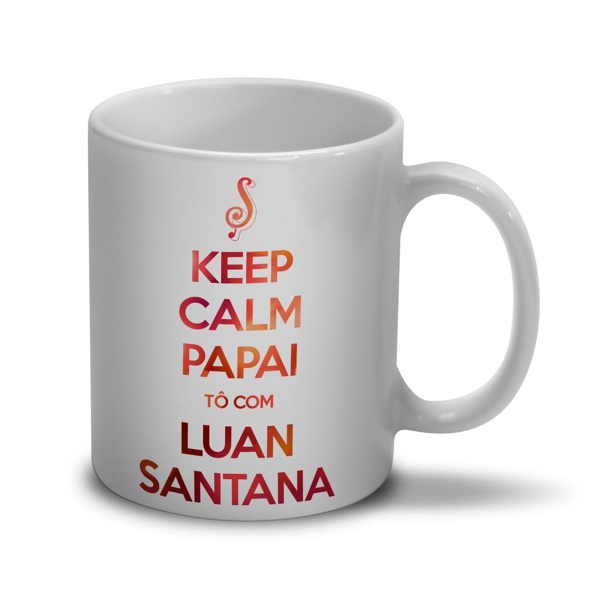 Caneca Luan Santana Keep Calm Papai