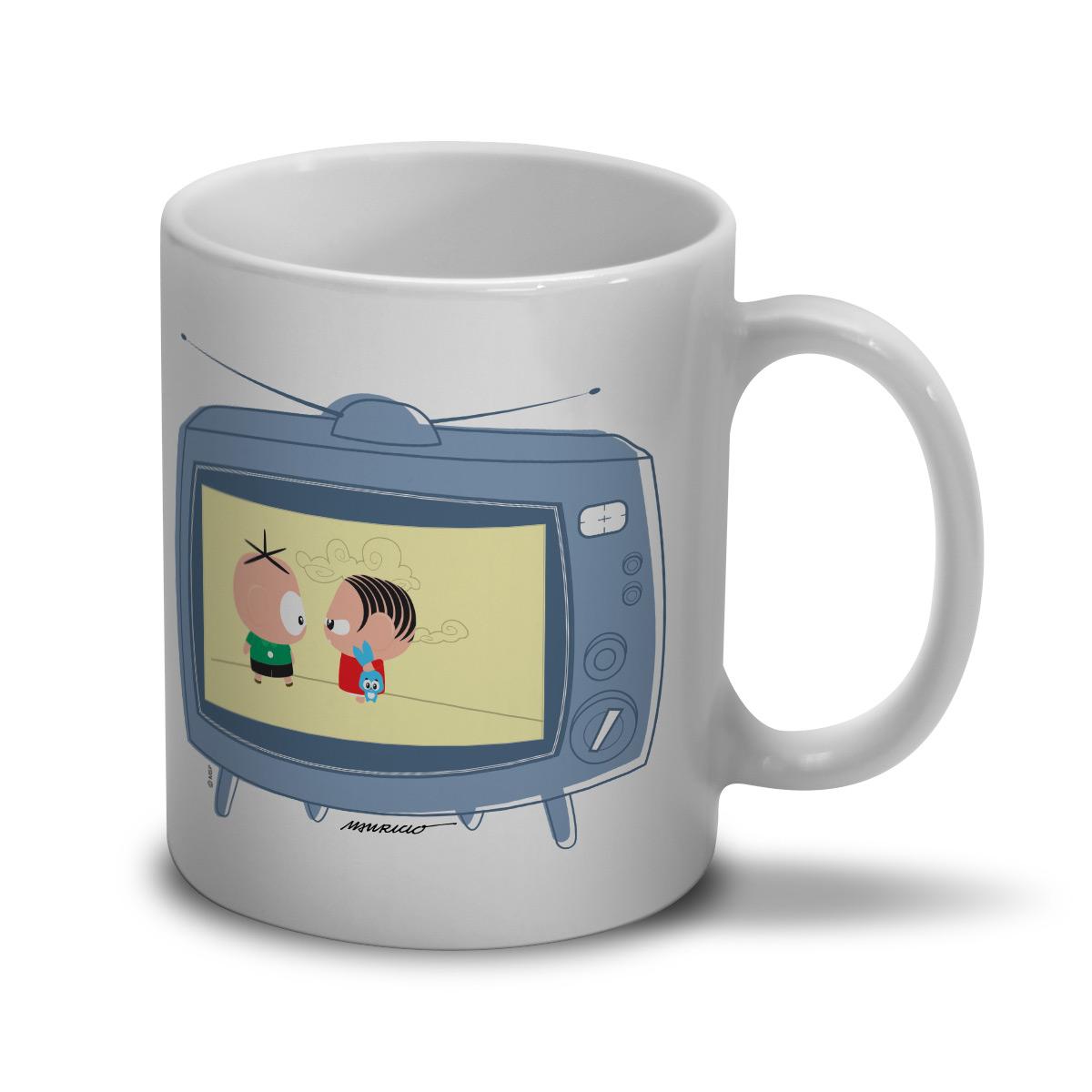 Caneca Turma da M�nica Toy TV Happy Cebolinha