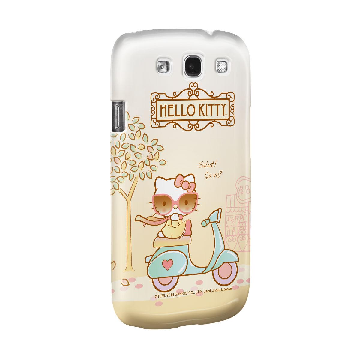 Capa de Celular Samsung S3 Hello Kitty Salut! Ça Va?