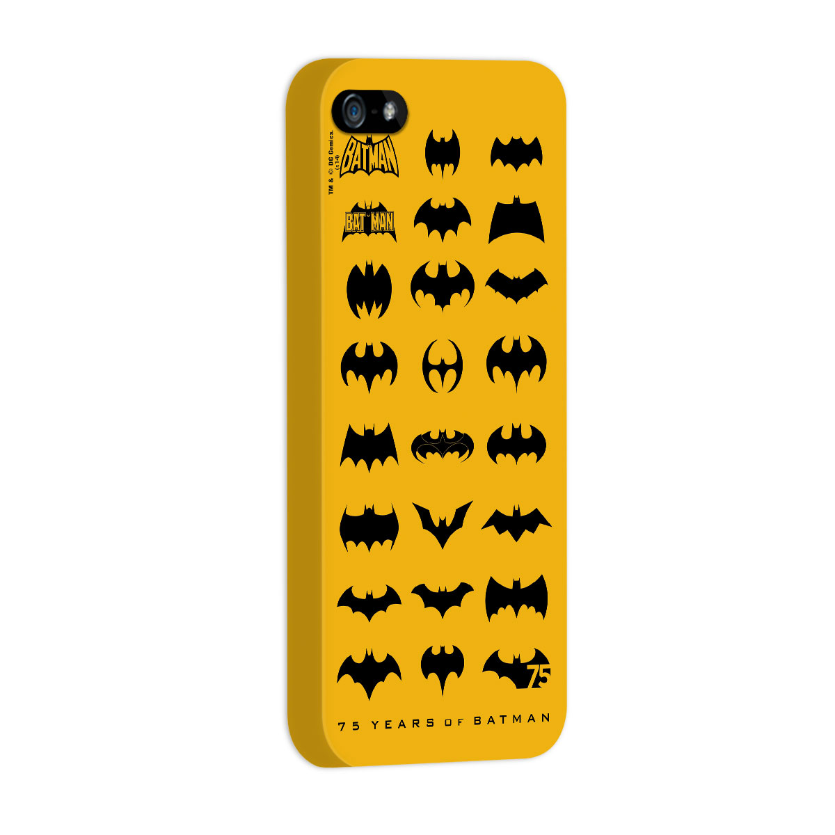 Capa de iPhone 5/5S Batman 75 Anos Logos Collection
