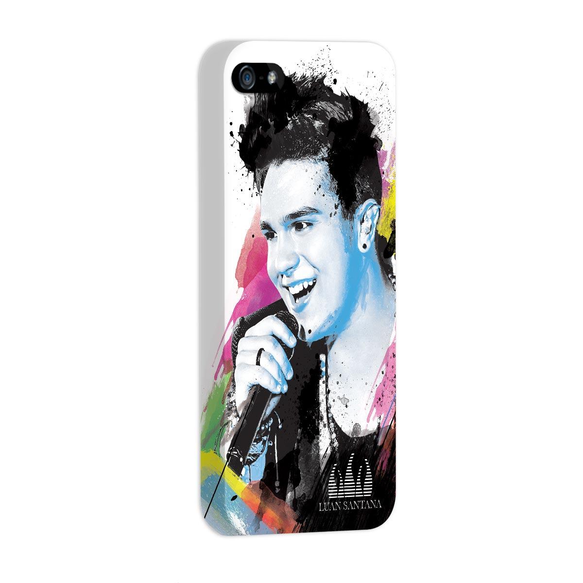 Capa de iPhone 5/5S Luan Santana Foto Colors