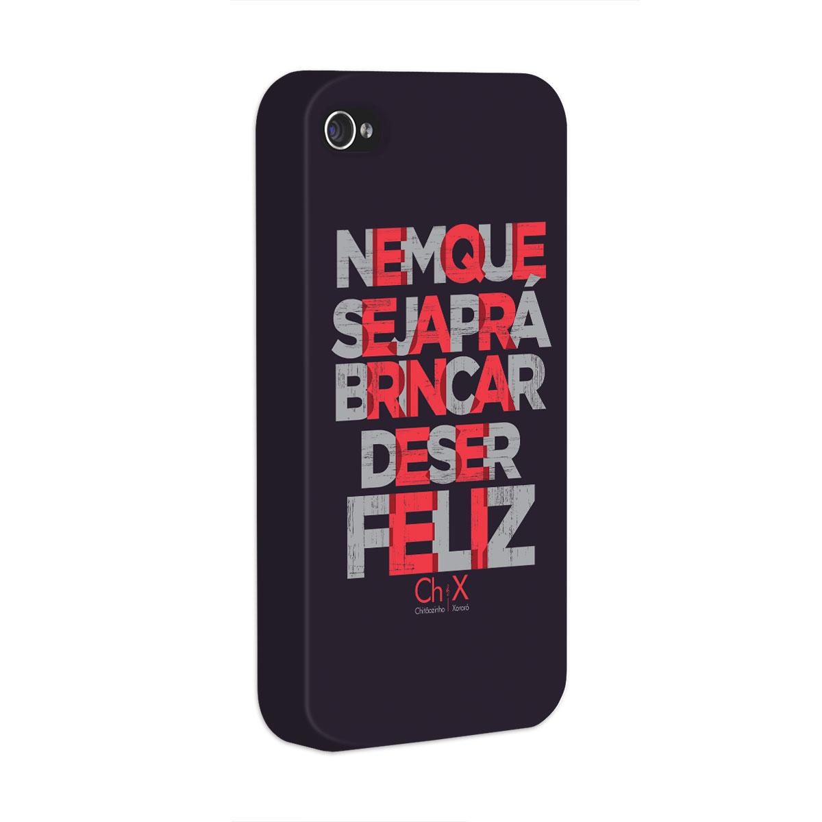 Capa para iPhone 4/4S Chit�ozinho & Xoror� Brincar de Ser Feliz