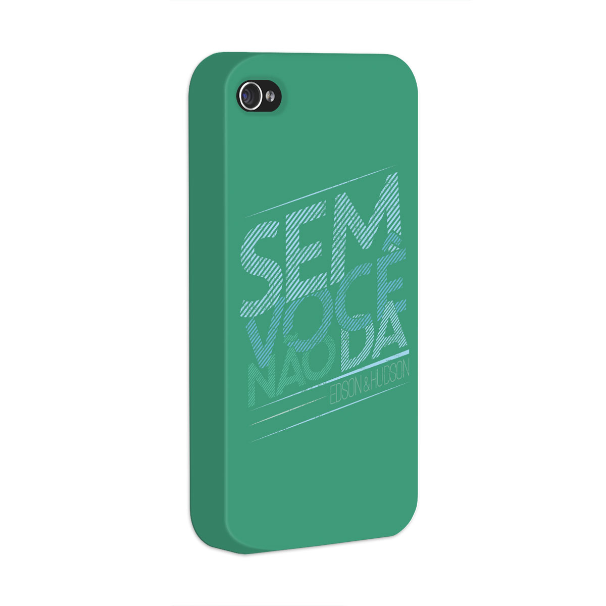 Capa para iPhone 4/4S Edson & Hudson Sem Voc� N�o D�