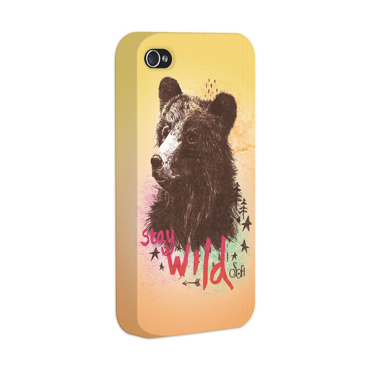 Capa para iPhone 4/4S Sofia Oliveira Stay Wild