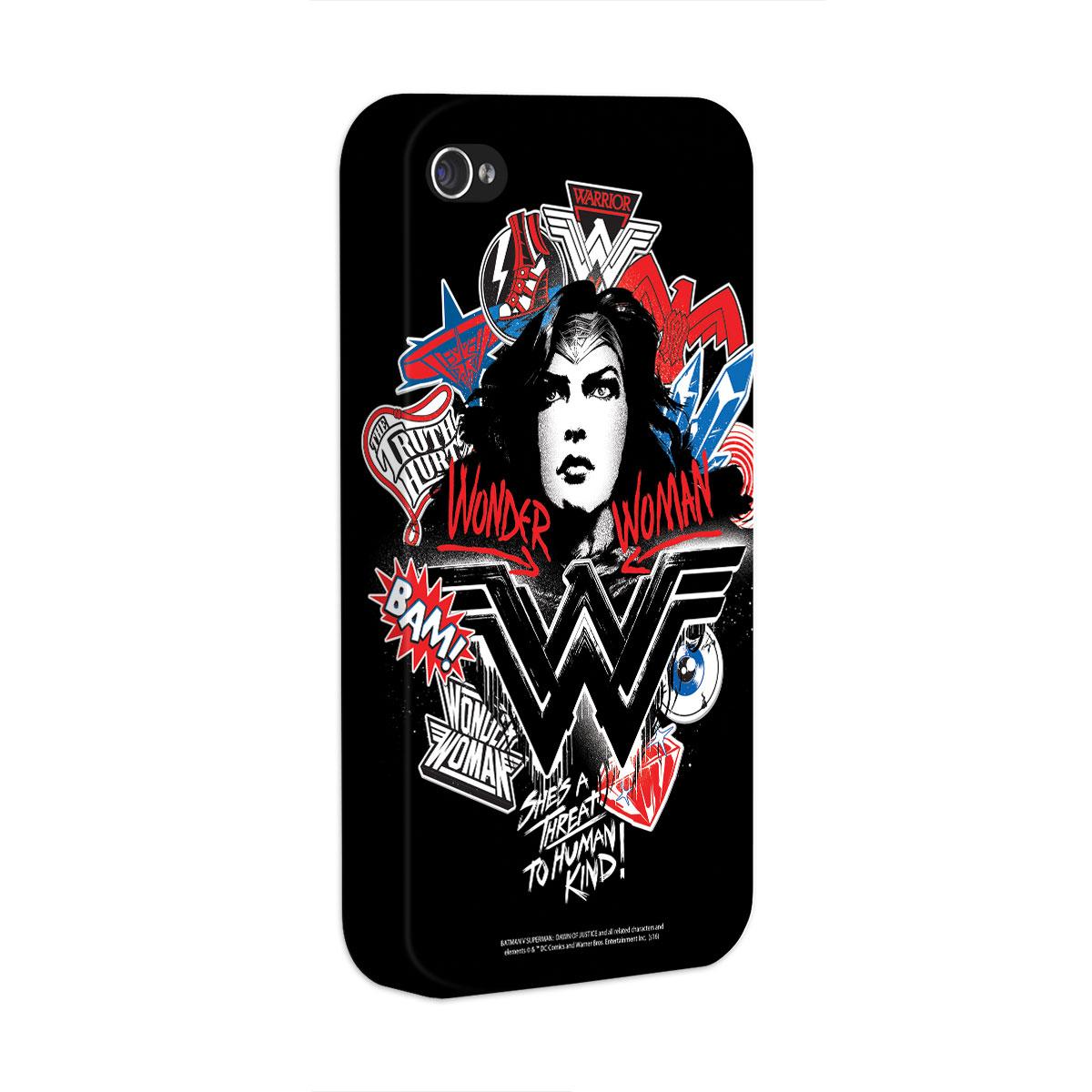 Capa para iPhone 4/4S Wonder Woman She´s a Threat