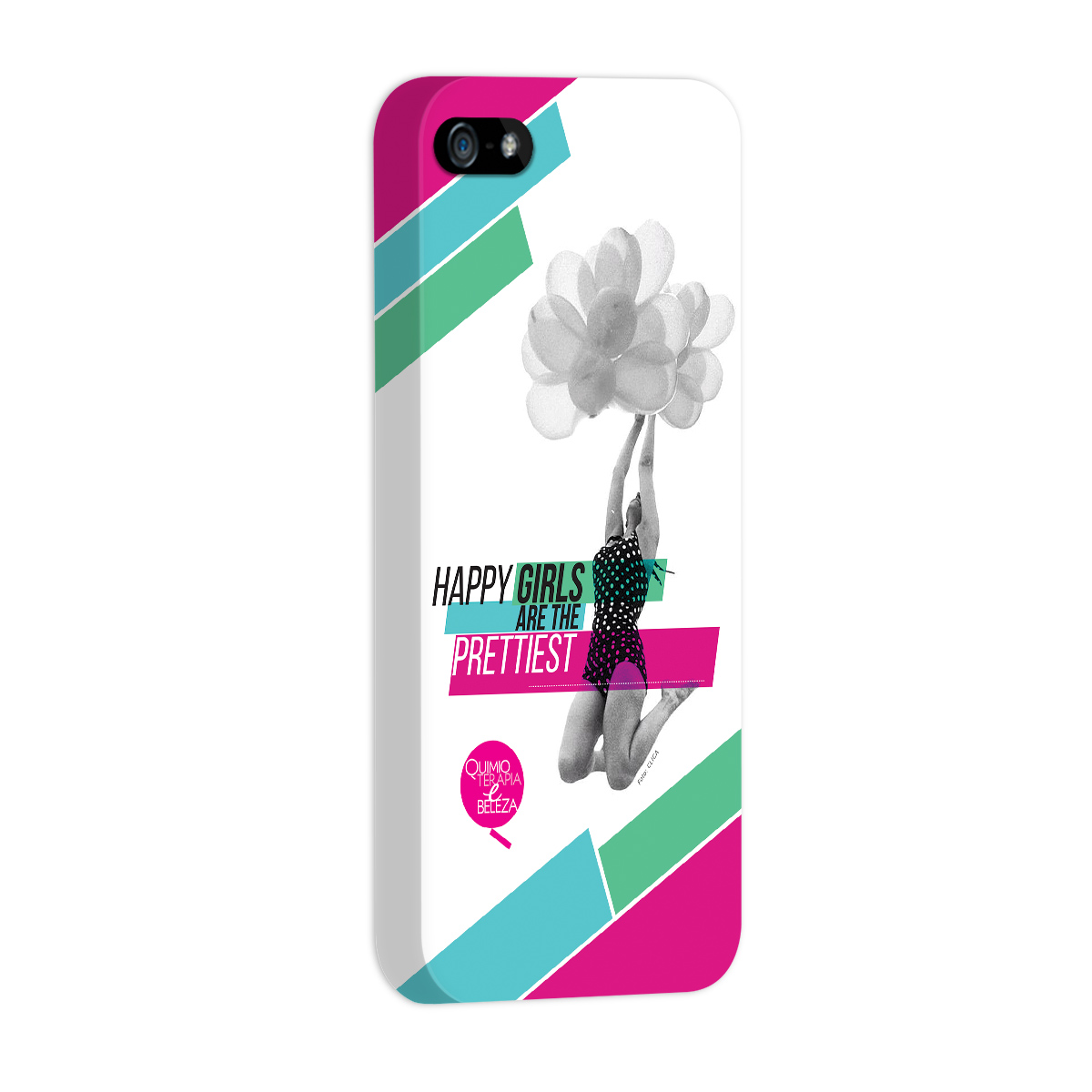 Capa para iPhone 5/5S QeB Happy Girls