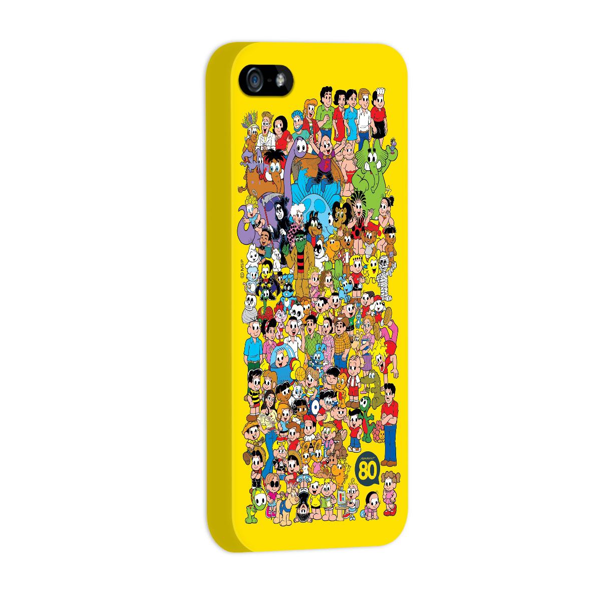 Capa para iPhone 5/5S Maurício de Sousa 80 Anos