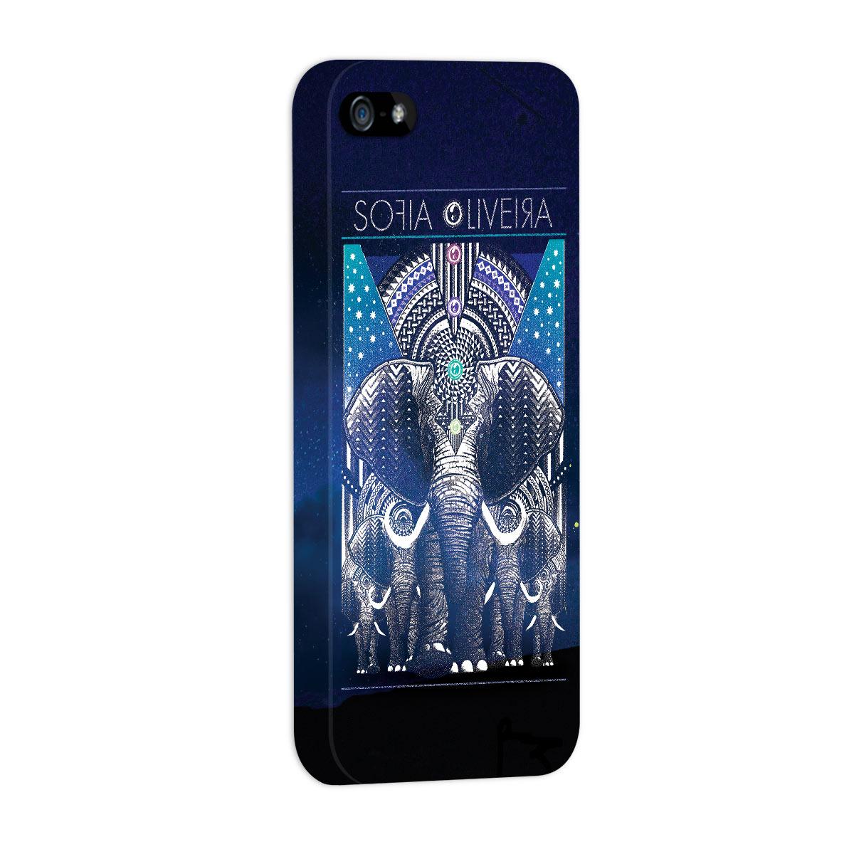 Capa para iPhone 5/5S Sofia Oliveira Elephant