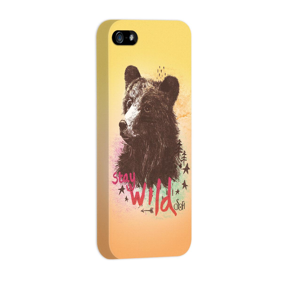 Capa para iPhone 5/5S Sofia Oliveira Stay Wild