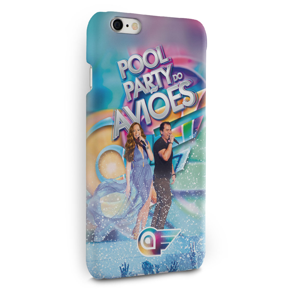 Capa para iPhone 6/6S Plus Aviões do Forró Capa Pool Party