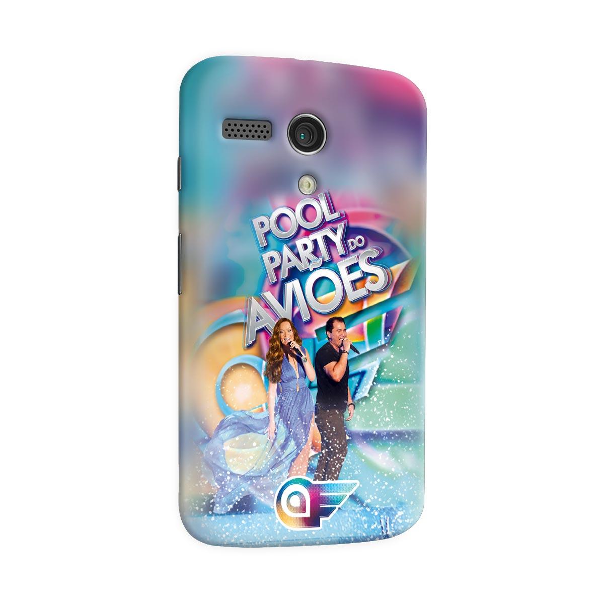 Capa para Motorola Moto G 1 Aviões do Forró Capa Pool Party