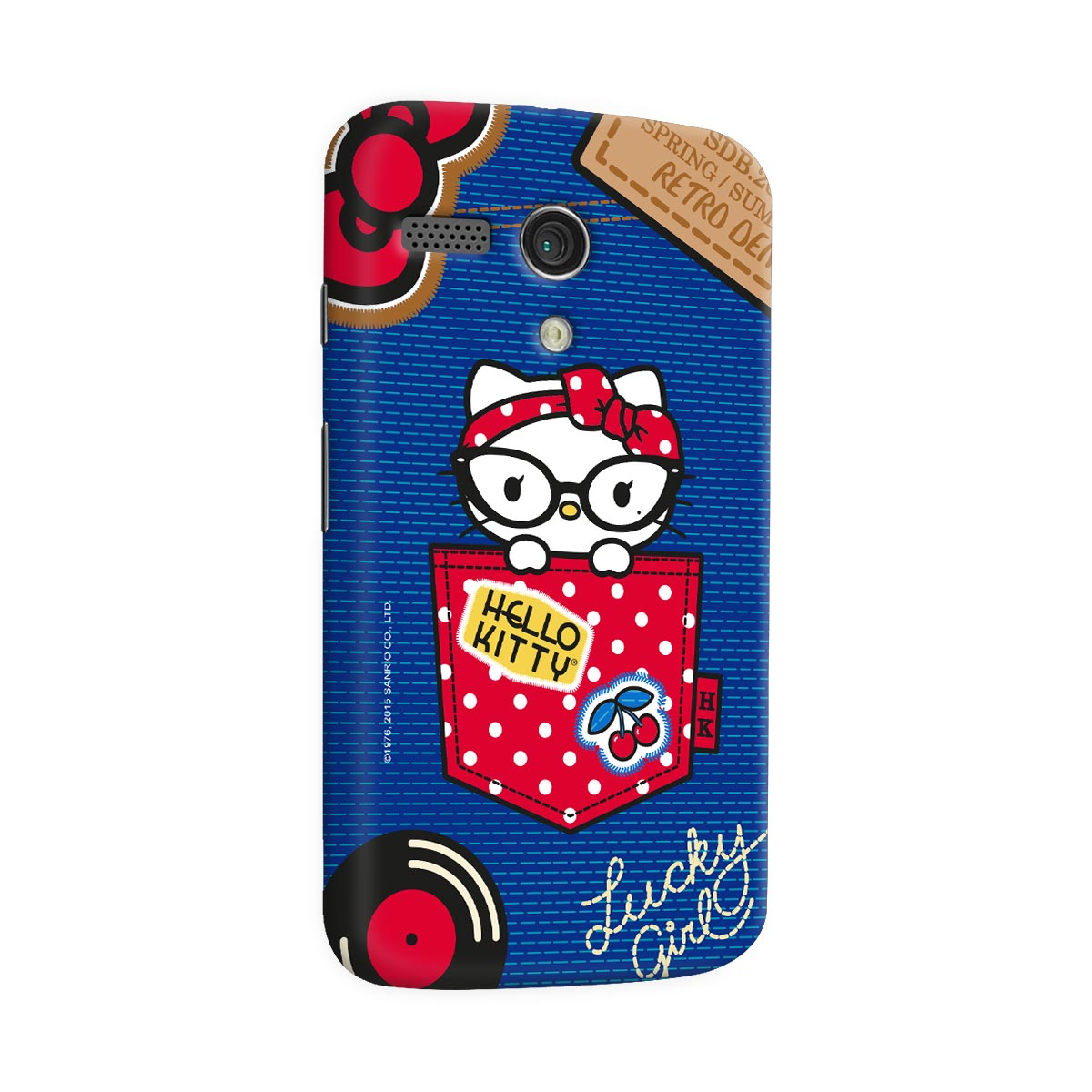 Capa para Motorola Moto G 1 Hello Kitty Retro Denim