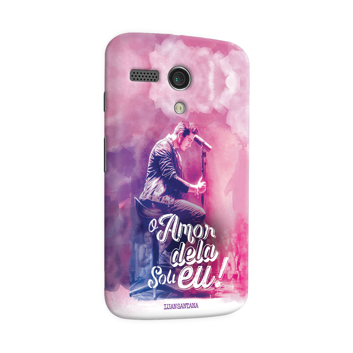 Capa para Motorola Moto G 1 Luan Santana O Amor Dela Sou Eu