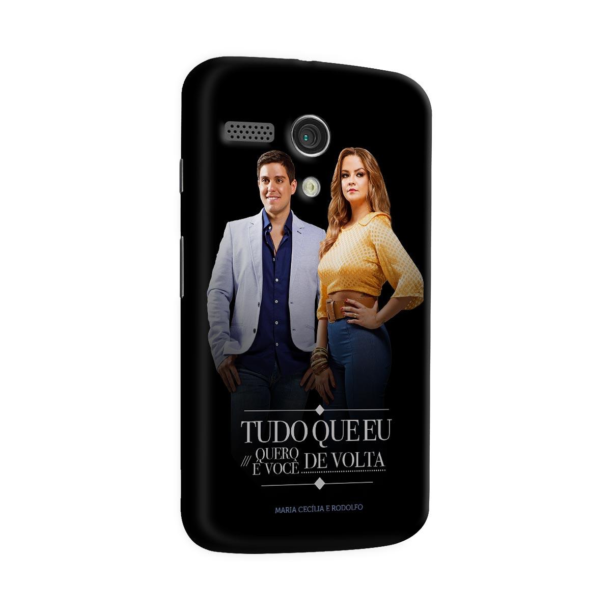 Capa para Motorola Moto G 1 Maria Cec�lia & Rodolfo Tudo Que Eu Quero