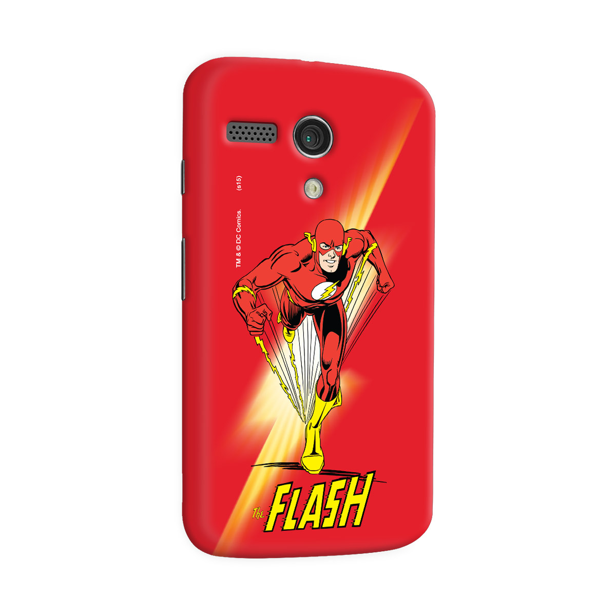 Capa para Motorola Moto G 1 The Flash Em Ação