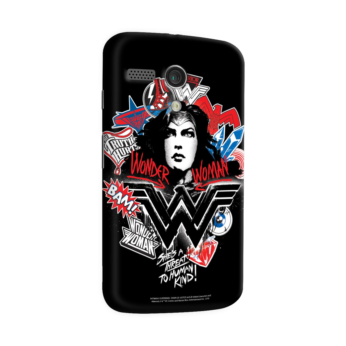 Capa para Motorola Moto G 1 Wonder Woman She´s a Threat