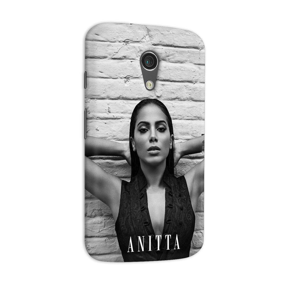 Capa para Motorola Moto G 2 Anitta P&B