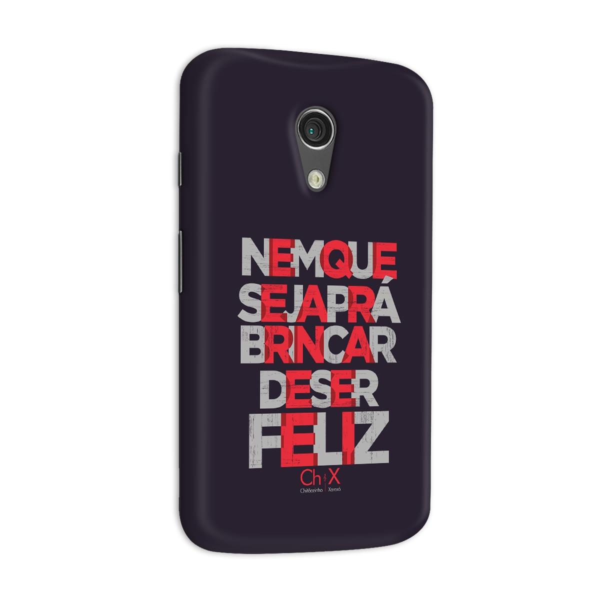 Capa para Motorola Moto G 2 Chit�ozinho & Xoror� Brincar de Ser Feliz