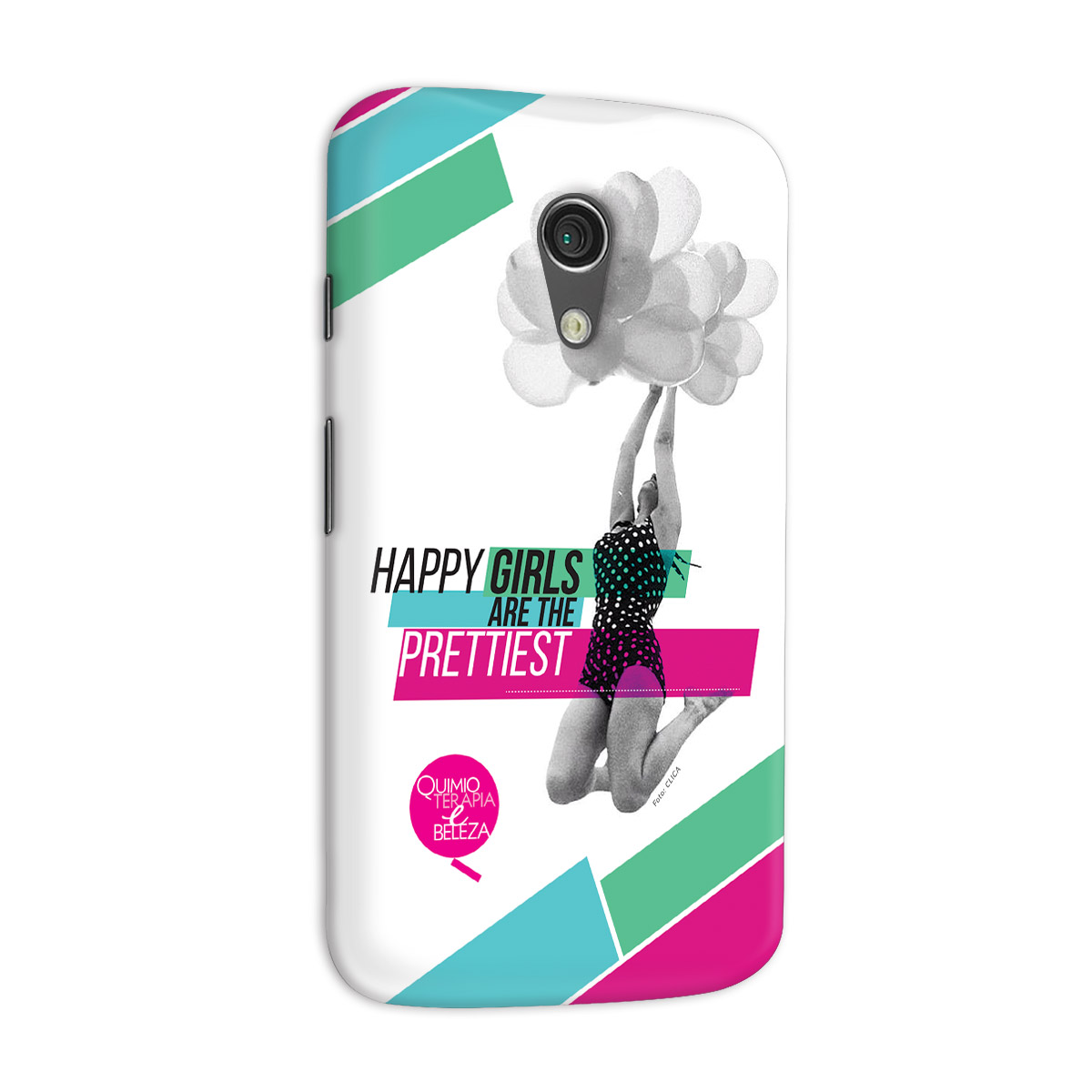 Capa para Motorola Moto G 2 QeB Happy Girls