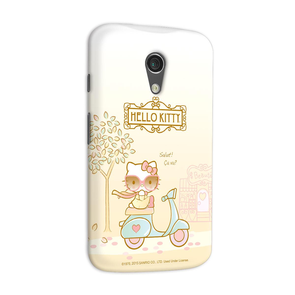 Capa para Motorola Moto G 2 Hello Kitty Salut! Ça Va?
