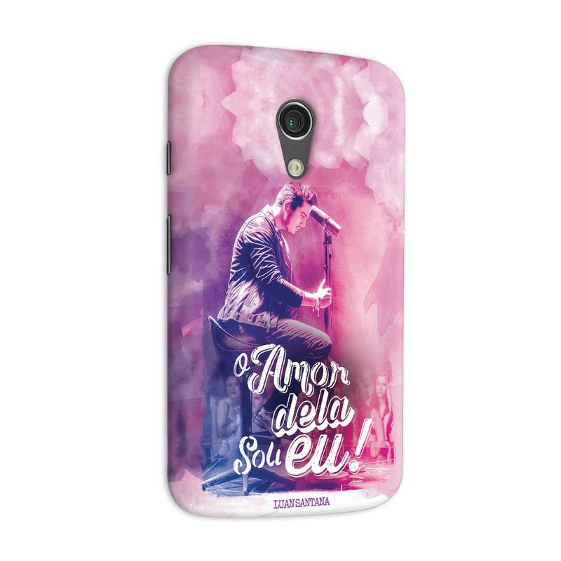 Capa para Motorola Moto G 2 Luan Santana O Amor Dela Sou Eu