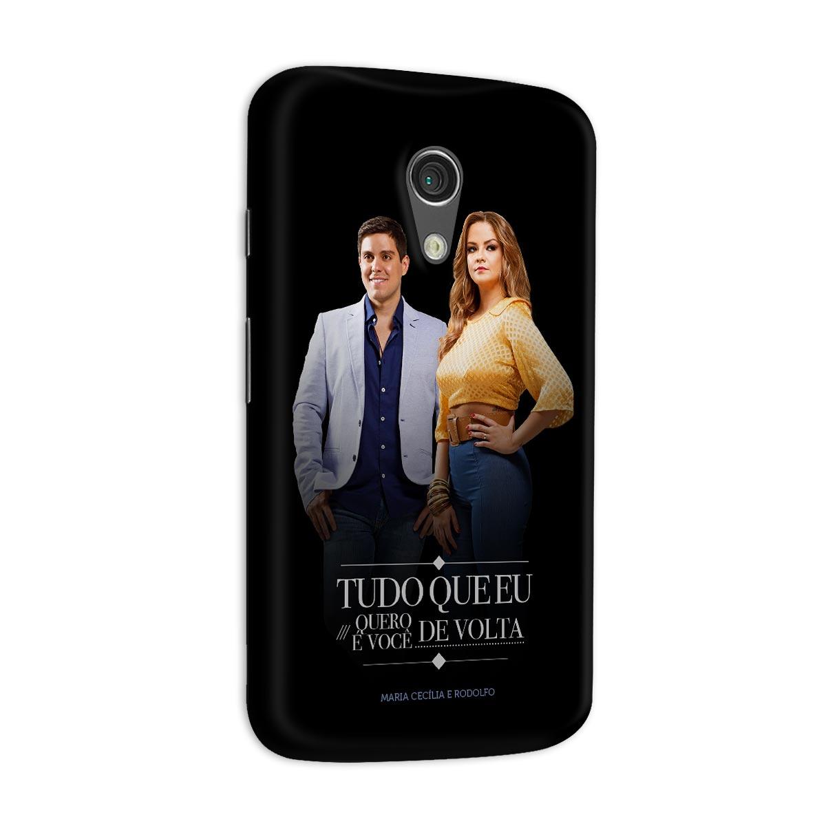 Capa para Motorola Moto G 2 Maria Cecília & Rodolfo Tudo Que Eu Quero