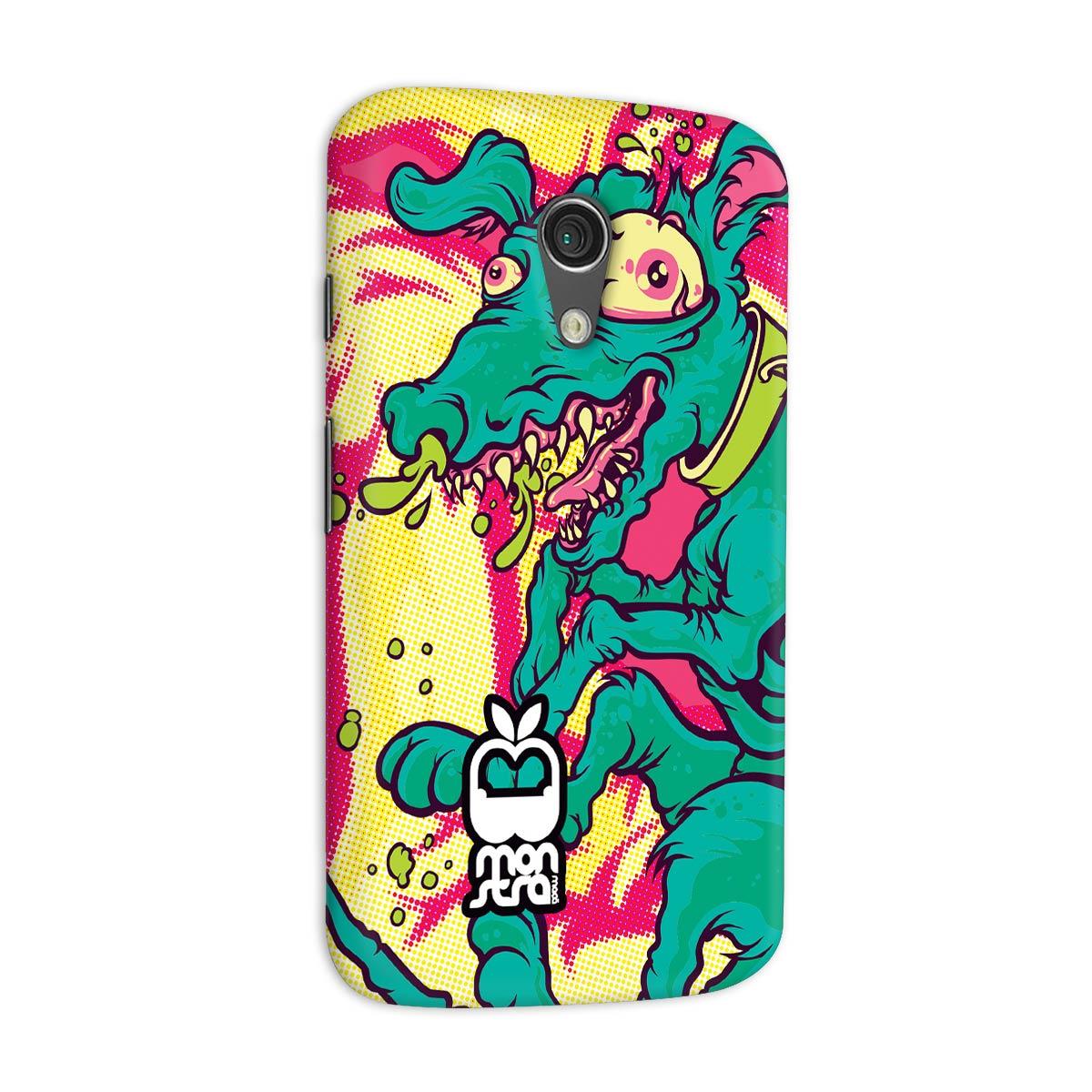 Capa para Motorola Moto G 2 Monstra Maçã Crazy Dog