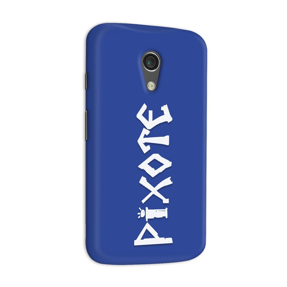 Capa para Motorola Moto G 2 Pixote Logo Blue