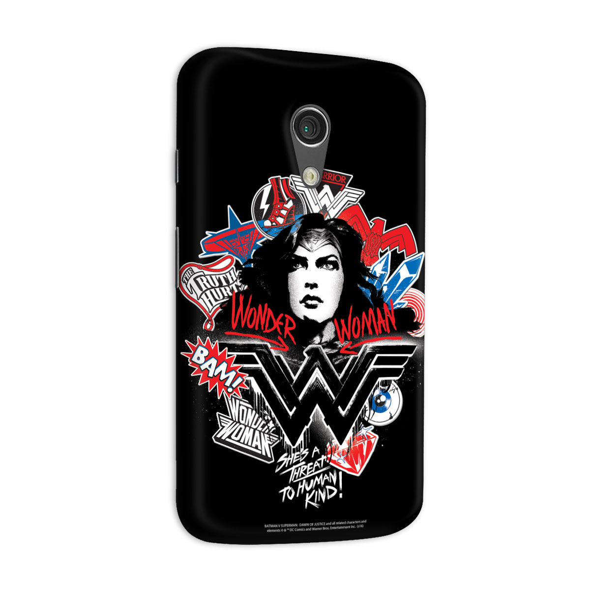 Capa para Motorola Moto G 2 Wonder Woman She�s a Threat