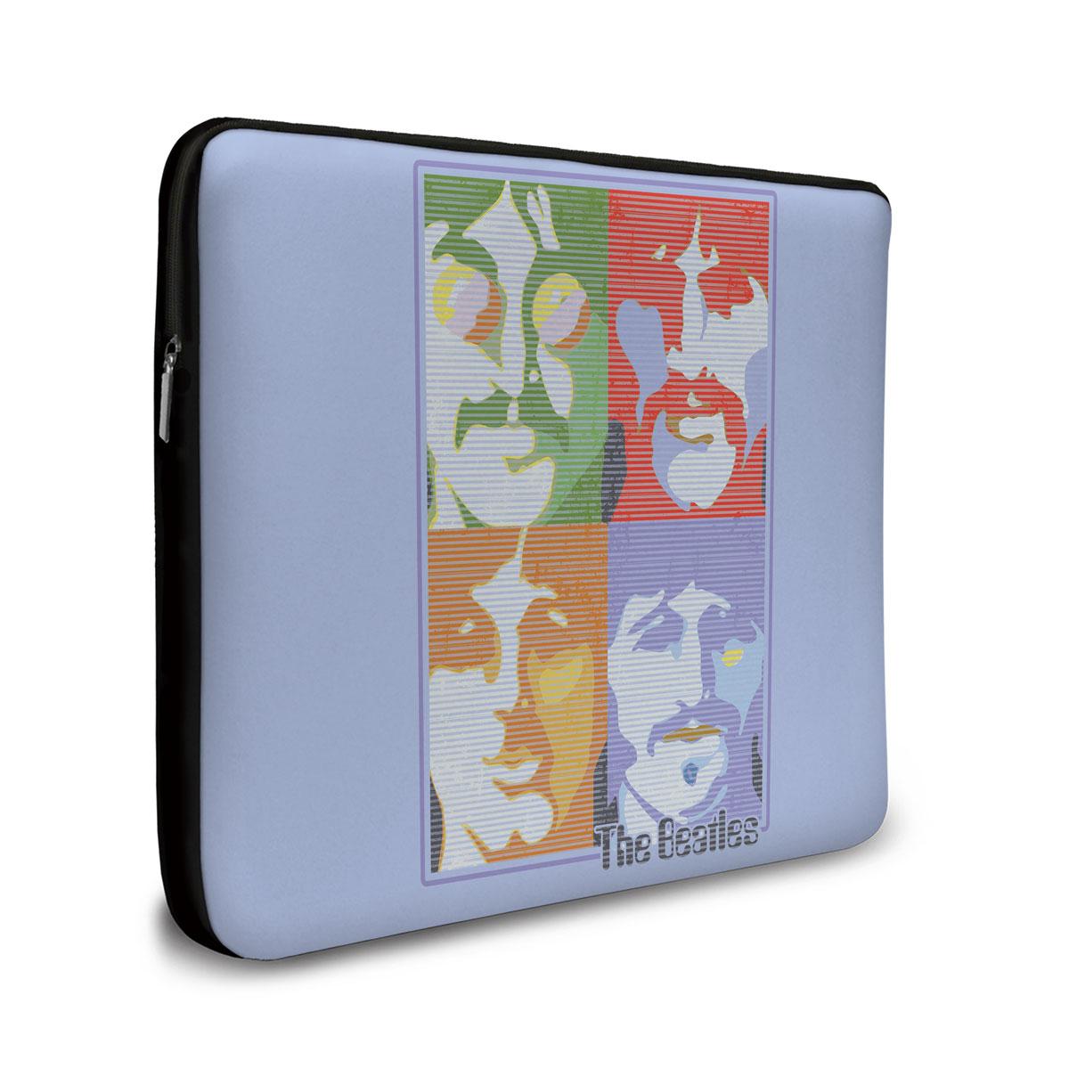 Capa Para Notebook The Beatles Pop Art Light Blue