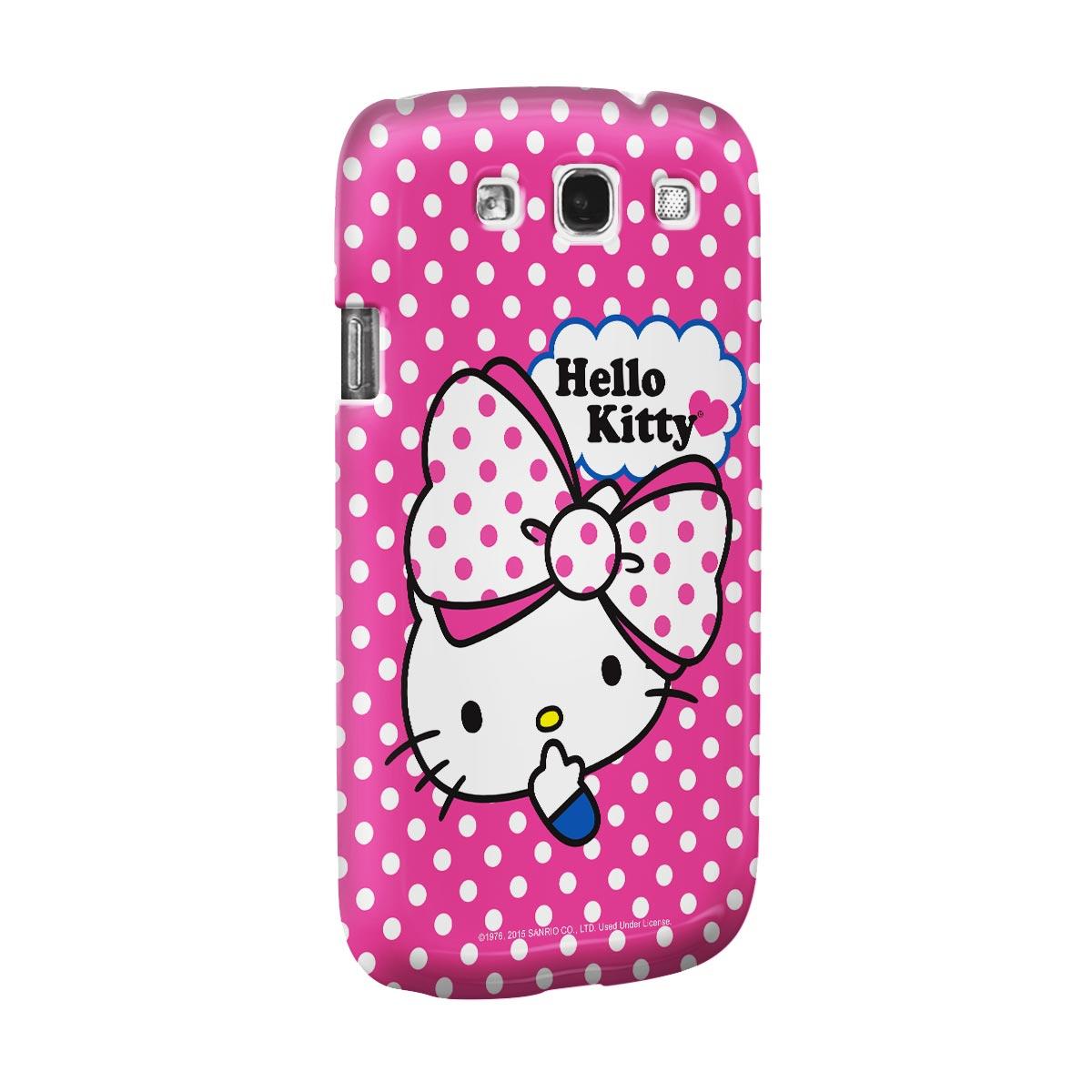 Capa para Samsung Galaxy S3 Hello Kitty Big Ribbon