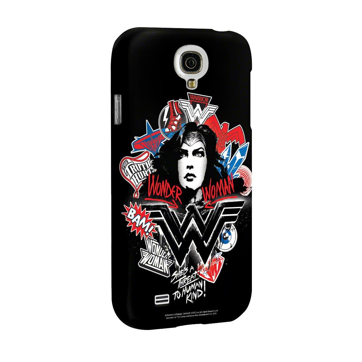 Capa para Samsung Galaxy S4 Wonder Woman She´s a Threat