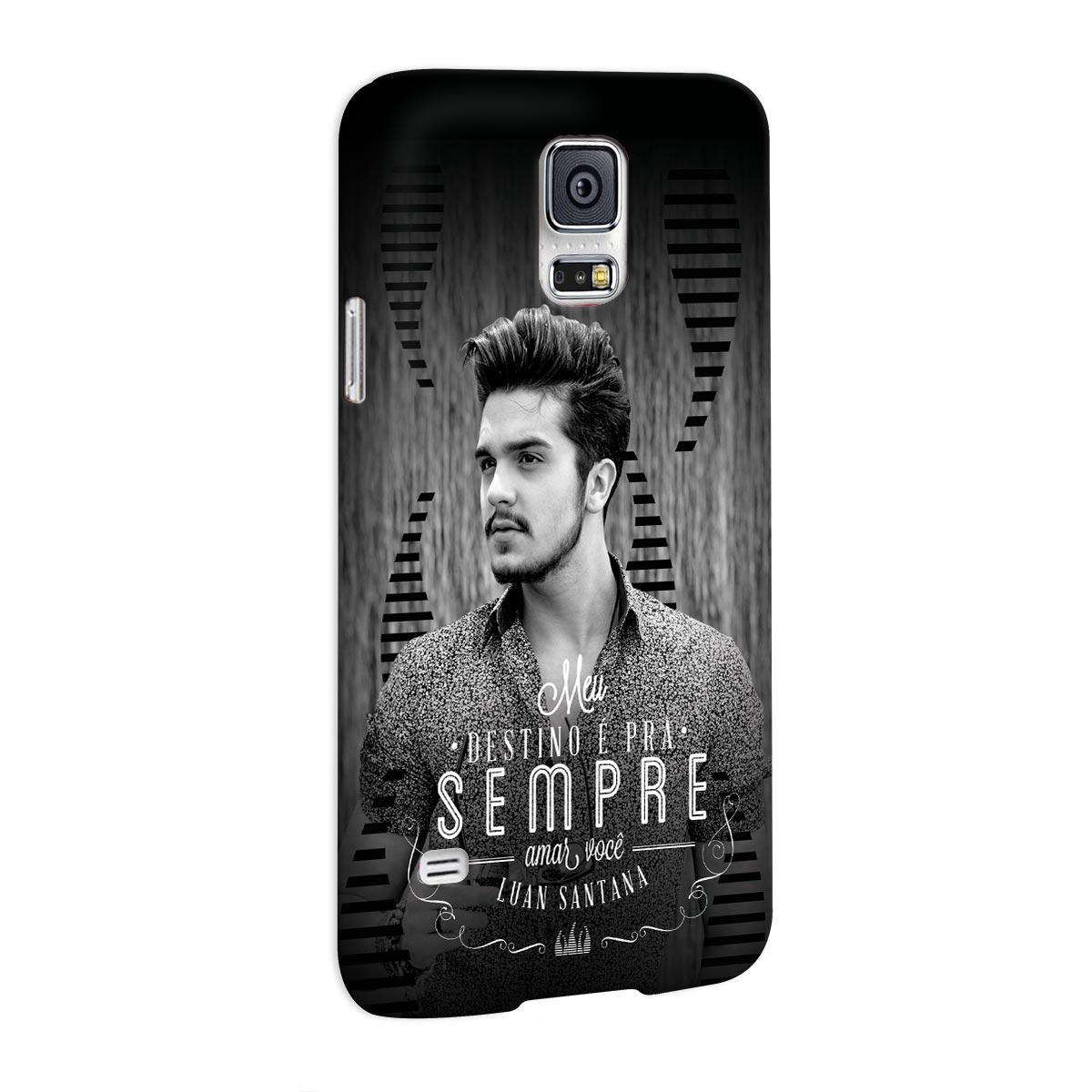 Capa para Samsung Galaxy S5 Luan Santana Meu Destino P&B