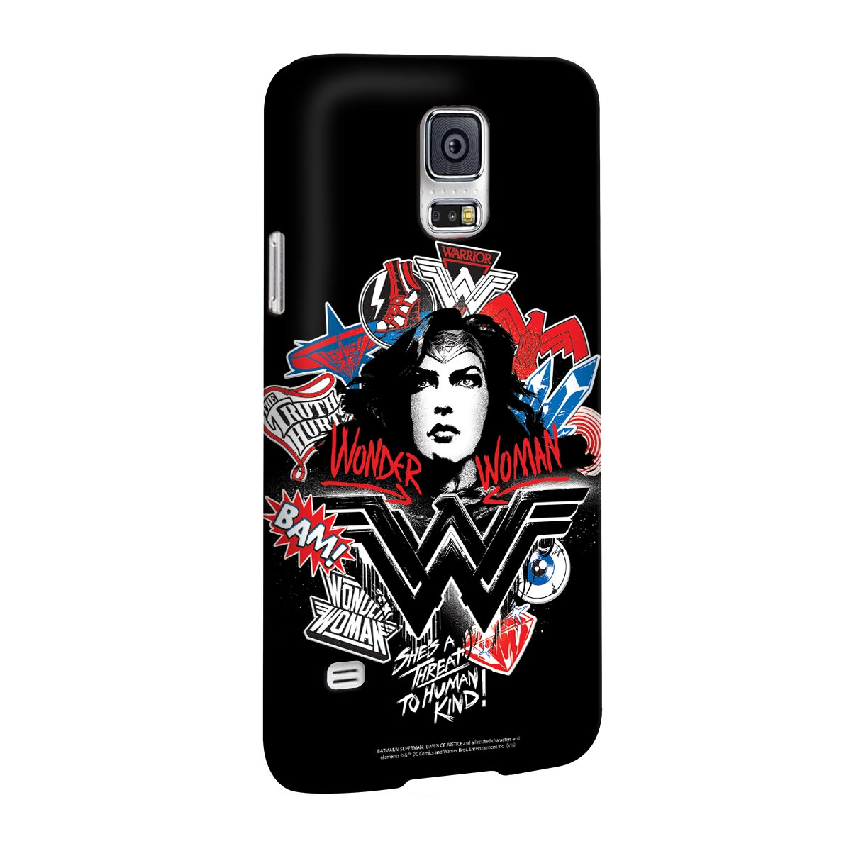 Capa para Samsung Galaxy S5 Wonder Woman She´s a Threat