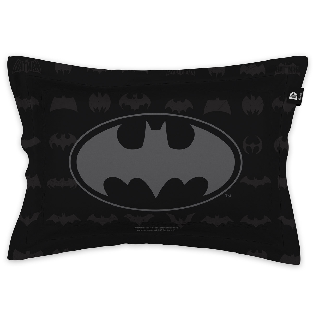 Capa para Travesseiro Batman Logos