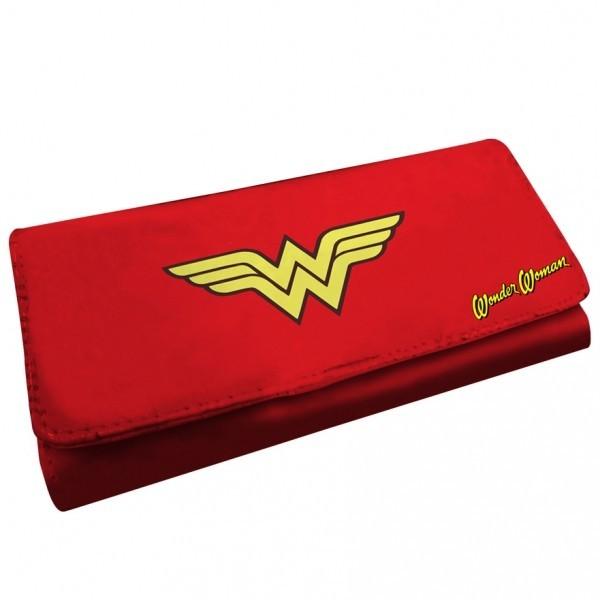 Carteira Feminina com Botão Wonder Woman Logo