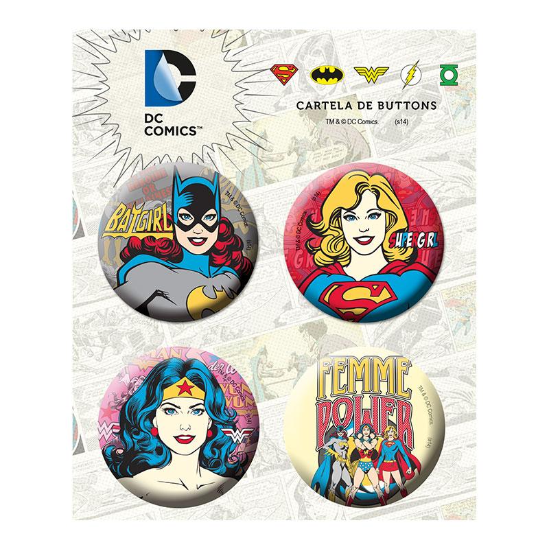 Cartela de Buttons Power Girls