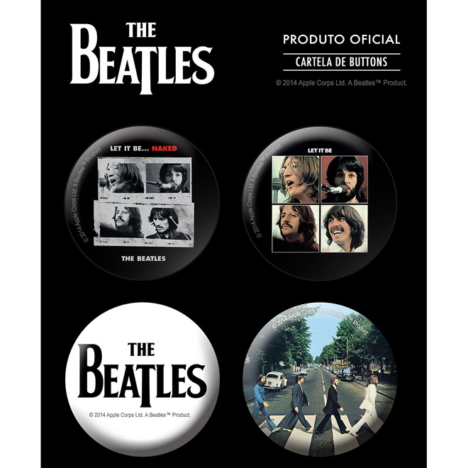 Cartela de Buttons The Beatles Albums 1