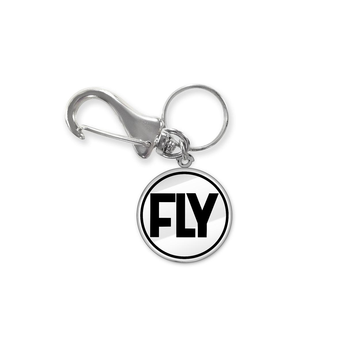 Chaveiro de Metal Banda Fly Logo
